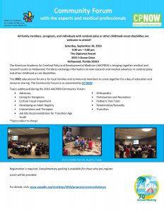 AACPDM Community Forum 2016