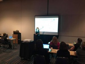 Dr. Amy Bailes presents CPRN's QI methodology at AACPDM.