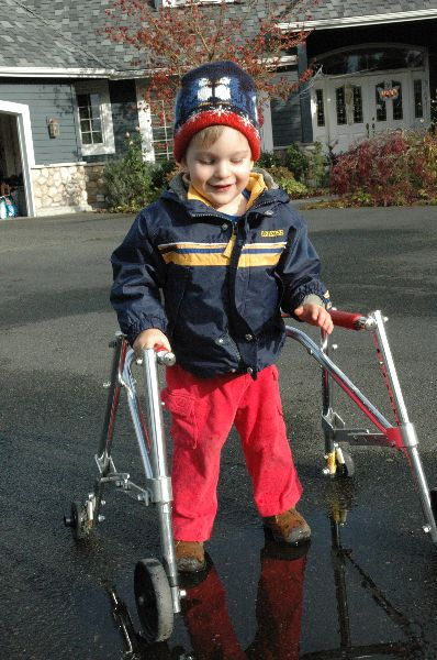 Three year old boy with Spastic Cerebral Palsy