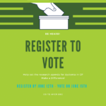 Register to Vote for Research Priorities