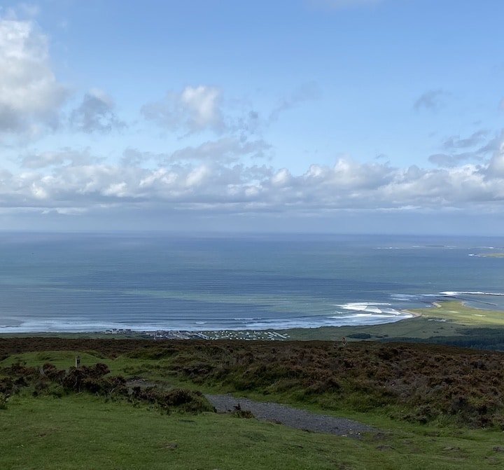 view out over the Atlantic on Knocknarea