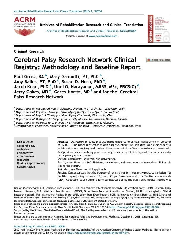 CPRN Registry Publication