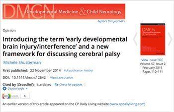 Introducing the Term 'Early Developmental Delay', Michele Shusterman