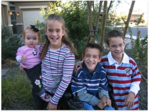 The triplets were joined by a younger sister in 2006.