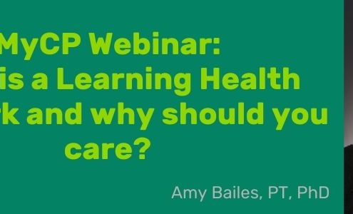 Dr. Amy Bailes webinar on what is a learning health network.