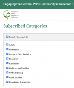 A segment of a dialog box shows how users can choose which categories they receive email notifications for