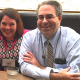 Drs. Gannotti and Noritz, dressed in business attire, at an informal meeting in Austin, TX